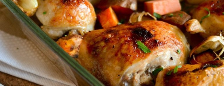Paleo Honey roasted chicken