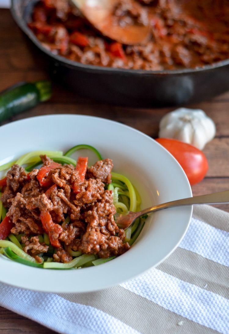 zucchini noodle spaghetti