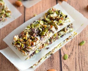 Paleo Granola Bars with Nuts