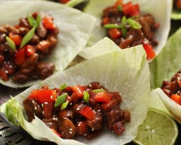 paleo asian chicken lettuce wraps